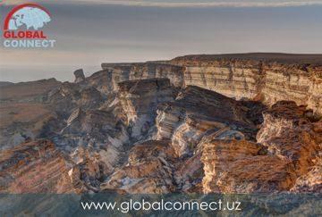 Каньон и обрывы плато Устюрта