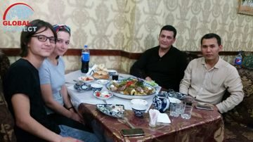 Enjoying Plov