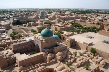 A view of Khiva from the Islom-Khoja minaret